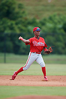 Philadelphia Phillies second baseman Luis Garcia (5) during practice before an Instructional League game against the Toronto Blue Jays on September 30, 2017 at the Carpenter Complex in Clearwater, Florida.  (Mike Janes/Four Seam Images)