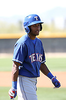 Ruben Sierra Jr, Texas Rangers minor league spring training..Photo by:  Bill Mitchell/Four Seam Images.