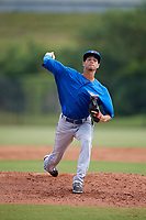 Toronto Blue Jays pitcher Emerson Jimenez (56) delivers a pitch during an Instructional League game against the Philadelphia Phillies on September 30, 2017 at the Carpenter Complex in Clearwater, Florida.  (Mike Janes/Four Seam Images)