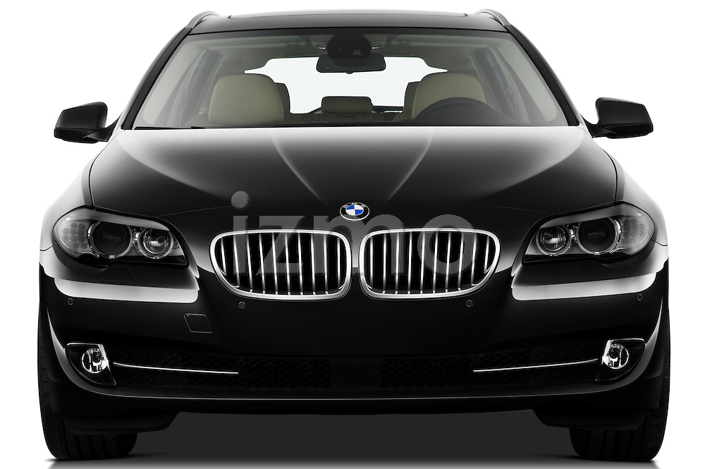 Straight front view of a 2013 BMW 5 Series 530d Wagon