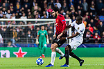 Marouane Fellaini of Manchester United (L) battles for the ball with Geoffrey Kondogbia of Valencia CF (R) during the UEFA Champions League 2018-19 match between Valencia CF and Manchester United at Estadio de Mestalla on December 12 2018 in Valencia, Spain. Photo by Maria Jose Segovia Carmona / Power Sport Images