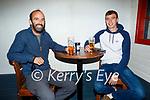 Enjoying the evening in Teach Beag on Thursday, l to r: Emmet Farrell and Tiernan Finnerty.