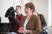 Caroline Lucas.  Green Party general election manifesto launch, Dalston, London.