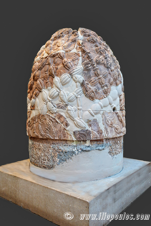 The Marble Omphalos - The Centre of the Earth (330 B.C.) in Delphi, Greece
