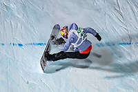 9th January 2021; Kreischberg, Murau, Austria. FIS World Cup Womens Snowboarding Big Air;  3rd placed Anna Gasser of Austria during the final of womens Snowboard Big Air Competition