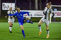 Genk's Luna Vanhoudt (43) pictured during a female soccer game between Sporting Charleroi and KRC Genk Ladies on the 9th matchday of the 2020 - 2021 season of Belgian Scooore Womens Super League , friday 11 th of December 2020  in Marcinelle , Belgium . PHOTO SPORTPIX.BE | SPP | STIJN AUDOOREN
