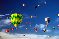 Hot air balloons.<br />