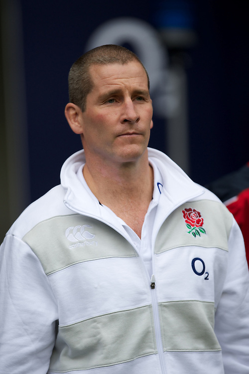 Has the halo slipped? Stuart Lancaster, England Team Manager before the Cook Cup between England and Australia, part of the QBE International series, at Twickenham on Saturday 17th November 2012 (Photo by Rob Munro)