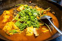 Nanjing, Jiangsu, China.  Fish Heads and Tofu for Lunch.
