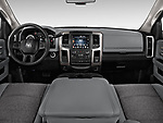 Straight dashboard view of a <br /> 2013 Dodge RAM 1500 Big Horn Crew Cab