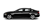 Car Driver side profile view of a 2017 Jaguar XE - 4 Door Sedan Side View