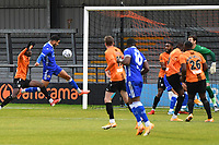 Joe Kizzi of Bromley F.C. scores the first Goal and celebrates during Barnet vs Bromley, Vanarama National League Football at the Hive Stadium on 14th November 2020