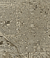 historical aerial photograph, Chino, Los Angeles County, California, 1994