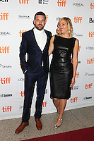 DIRECTOR MICHELLE SINCLAIR WITH HER HUSBAND ADAM SINCLAIR - RED CARPET OF THE FILM 'THE TERRY KATH EXPERIENCE' - 41ST TORONTO INTERNATIONAL FILM FESTIVAL 2016 . 15/09/2016. # FESTIVAL INTERNATIONAL DU FILM DE TORONTO 2016