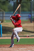 Cincinnati Reds Hector Vargas (52) during an instructional league game against the Los Angeles Dodgers on October 20, 2015 at Cameblack Ranch in Glendale, Arizona.  (Mike Janes/Four Seam Images)