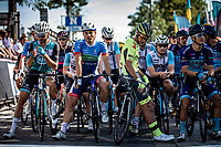 Riders ready for start. <br /> <br /> 94th Schaal Sels 2019<br /> One Day Race: Merksem  >  Merksem  (UCI 1.1)<br /> ©kramon