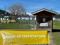 Covid-19 Teststation am Trainingsplatz - Seefeld 28.05.2021: Trainingslager der Deutschen Nationalmannschaft zur EM-Vorbereitung