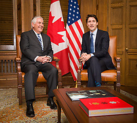 U.S. Secretary of State Rex Tillerson meets with Canadian Prime Minister Justin Trudeau on Parliament Hill in Ottawa, Canada on December 19, 2017. [State Department Photo/Public Domain]