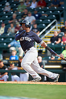 New York Yankees third baseman Miguel Andujar (94) at bat during a Grapefruit League Spring Training game against the Pittsburgh Pirates on March 6, 2017 at LECOM Park in Bradenton, Florida.  Pittsburgh defeated New York 13-1.  (Mike Janes/Four Seam Images)