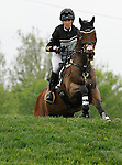LEXINGTON, KY - APRIL 30: #77 Anthony Patch and Laine Ashker compete in the Cross Country Test for the Rolex Kentucky 3-Day Event at the Kentucky Horse Park.  April 30, 2016 in Lexington, Kentucky. (Photo by Candice Chavez/Eclipse Sportswire/Getty Images)