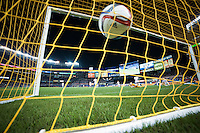 BRONX, NY - Sunday September 19, 2015: Ned Grabavoy scores the first of three goals for NYCFC.  New York City FC defeats the San Jose Earthquakes 3-2 at home at Yankee Stadium during the 2015 MLS regular season.