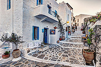 The traditional village of Plaka in Milos, Greece