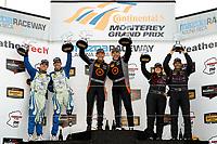IMSA Continental Tire SportsCar Challenge<br /> Mazda Raceway Laguna Seca 240<br /> Mazda Raceway Laguna Seca<br /> Monterey, CA USA<br /> Saturday 23 September 2017<br /> 26, Mazda, Mazda MX-5, ST, Andrew Carbonell, Liam Dwyer, 75, Audi, Audi S3, ST, Roy Block, Pierre Kleinubing, 44, Nissan, Altima, ST, Sarah Cattaneo, Owen Trinkler, podium<br /> World Copyright: YOUR NAME HERE<br /> LAT Images