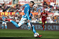 Football, Serie A: AS Roma - SSC Napoli, Olympic stadium, Rome, March 31, 2019. <br /> Napoli's José Callejon in action during the Italian Serie A football match between Roma and Napoli at Olympic stadium in Rome, on March 31, 2019.<br /> UPDATE IMAGES PRESS/Isabella Bonotto