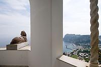 Italien, Capri, Museum Villa San Michele in Anacapri, Wohnhaus von Axel Munthe, ägyptische Sphinx