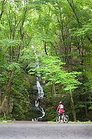 Bicyclist, Buttermilk Falls, Delaware Water Gap, New Jersey