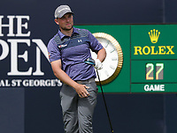 15th July 2021; Royal St Georges Golf Club, Sandwich, Kent, England; The Open Championship, PGA Tour, European Tour Golf, First Round ; Daniel Croft (ENG) hits his driver from the first tee