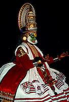 Kathakali-Tanz, Jayanthan Sohn von Indira (König des Himmels), Cochin(Kerala)Indien