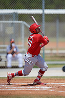 St. Louis Cardinals Juan Yepez (19) during a Minor League Spring Training game against the Houston Astros on March 27, 2018 at the Roger Dean Stadium Complex in Jupiter, Florida.  (Mike Janes/Four Seam Images)
