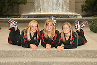 STANFORD, CA - OCTOBER 1:  Michelle Moore, Allison Coates, and Corinne Smith during picture day on October 1, 2008 in Stanford, California.