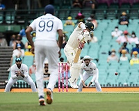 7th January 2021; Sydney Cricket Ground, Sydney, New South Wales, Australia; International Test Cricket, Third Test Day One, Australia versus India; David Warner of Australia under pressure from the Indian bowling