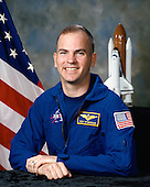"""Houston, TX - (FILE) -- Photo dated March 15, 1995 of Astronaut Frederick W. (Rick) Sturckow, commander, STS-128.  Commander Rick Sturckow will lead the STS-128 mission to the International Space Station aboard space shuttle Discovery with Kevin Ford serving as pilot.  It is scheduled for launch on August 25, 2009.  Also serving aboard Discovery are mission specialists Patrick Forrester, José Hernández, John """"Danny"""" Olivas, Christer Fuglesang and Nicole Stott. .Stott will remain on the station as an Expedition 20 flight engineer replacing Timothy Kopra. Kopra will return home aboard Discovery as a mission specialist.  Discovery is carrying the Leonardo Multi-Purpose Logistics Module containing life support racks and science racks. The Lightweight Multi-Purpose Experiment Support Structure Carrier will also be launched in Discovery's payload bay.  This is Discovery's 37th mission to space and the 30th mission of a space shuttle dedicated to the assembly and maintenance of the International Space Station. .Credit: NASA via CNP"""