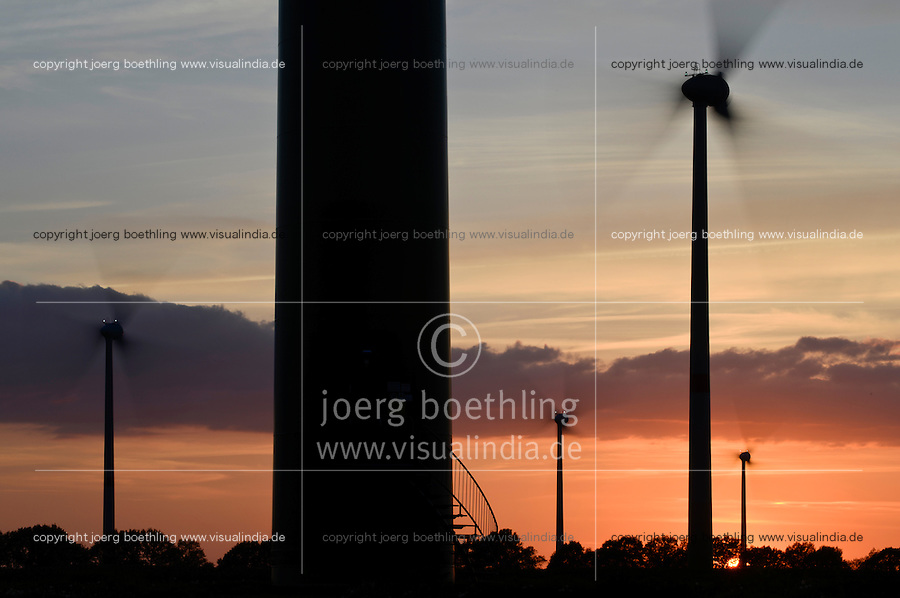 GERMANY Parchim, Enercon wind turbine / DEUTSCHLAND, Windkraftanlage Enercon