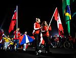 Lima 2019 - Carla Shibley and Meghan Lemiski carry the Canadian flag in the closing ceremony // Carla Shibley et Meghan Lemiski portent le drapeau canadien lors de la cérémonie de clôture. 01/09/2019.