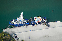 aerial photograph Florida Responder pollution control vessel docked Port of Miami Florida