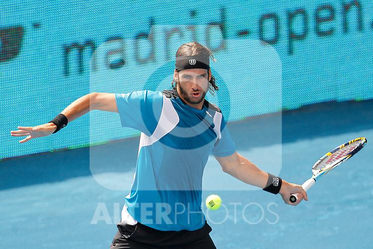 Feliciano Lopez during Mutua Madrid Open 2012 match on may 8th 2012...Photo: Cesar Cebolla / ALFAQUI