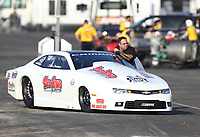 Feb 8, 2020; Pomona, CA, USA; NHRA pro stock driver Steve Graham during qualifying for the Winternationals at Auto Club Raceway at Pomona. Mandatory Credit: Mark J. Rebilas-USA TODAY Sports