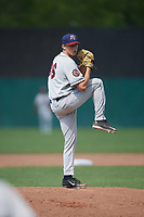 Mahoning Valley Scrappers relief pitcher Michael Hendrickson (36) delivers a pitch during the second game of a doubleheader against the Auburn Doubledays on July 2, 2017 at Falcon Park in Auburn, New York.  Mahoning Valley defeated Auburn 3-2.  (Mike Janes/Four Seam Images)