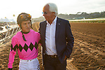 DEL MAR,CA-SEPTEMBER 03: Bob Baffert and Mario Gutierrez, after winning the Del Mar Futurity at Del Mar Race Track on September 3,2018 in Del Mar,California (Photo by Kaz Ishida/Eclipse Sportswire/Getty Images)