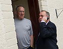First Minister Alex Salmond talks to Robert and Margaret Drummond's daughter Donna on the phone whilst on the campaign trail.