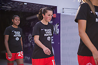 ORLANDO, FL - FEBRUARY 24: Jessie Fleming #17 of the CANWNT walks out of the tunnel before a game between Brazil and Canada at Exploria Stadium on February 24, 2021 in Orlando, Florida.