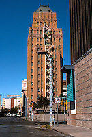 El Paso:   O.T. Bassett Tower, 16 stories. Side elevation. Henry C. Trost, Arch. 1929-30.