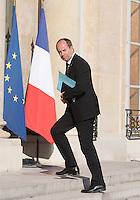 Jean-Jacques Urvoas - Conseil restreint de sÈcurite et de defense ‡ l'Elysee suite a l'attentat de Nice perpetre le 14 juillet.