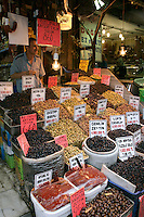 Olives for sale, Eminonu, Istanbul, Turkey