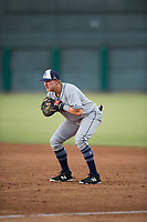AZL Padres 1 first baseman Greg Lambert (14) during an Arizona League game against the AZL Cubs 1 at Sloan Park on July 5, 2018 in Mesa, Arizona. The AZL Cubs 1 defeated the AZL Padres 1 3-1. (Zachary Lucy/Four Seam Images)