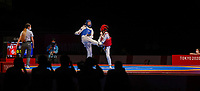 Australia's Taekwondo Women's K44 entrant Janine Watson in combat during the Quarterfinal on day 11 of the 2020 Tokyo Paralympic Games.<br /> Paralympics Australia / Day 11<br /> Tokyo Japan: Thursday 2 Sep 2021<br /> © Sport the library / Greg Smith / PA